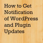 How to Get Notification of WordPress and Plugin Updates